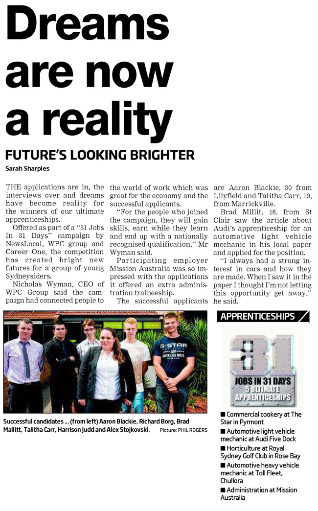 Dreams Are Now A Reality Auto Apprenticeships