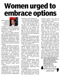 Women Urged to Embrace Options